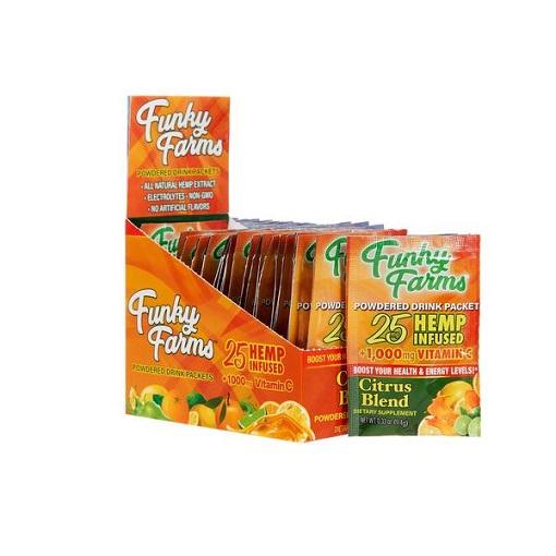 FF Citrus Blend CBD Drink Mix Display 24pk