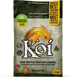 Koi CBD Tropical Fruit Soft Gummies Sour