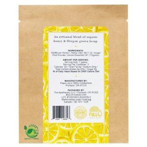 Lemon Ginger Honey CBD Back