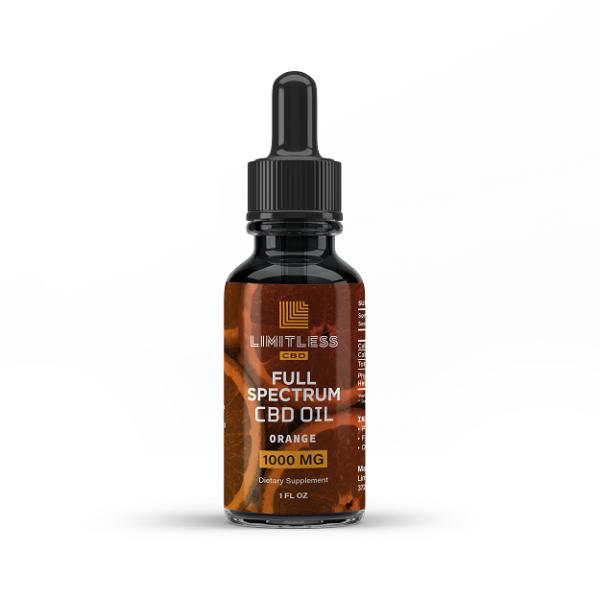 Limitless Cbd Full Spectrum Oil Drops Orange Flavor