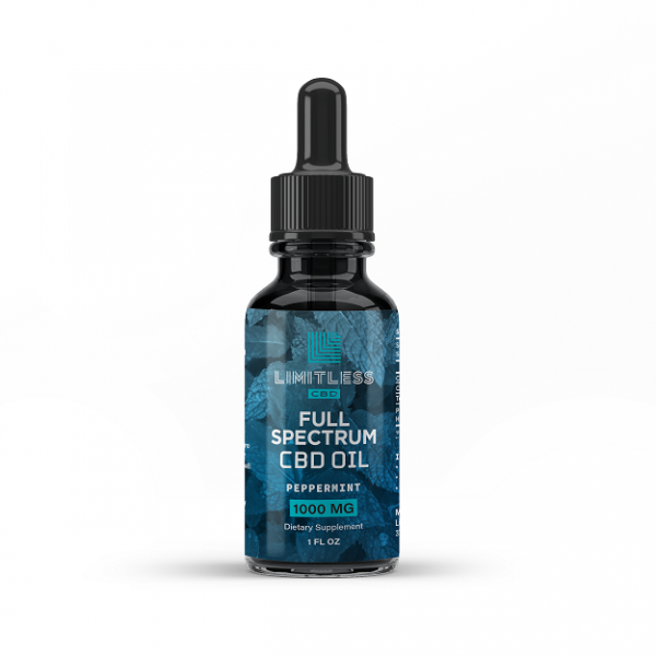Limitless Cbd Full Spectrum Oil Drops Peppermint Flavor