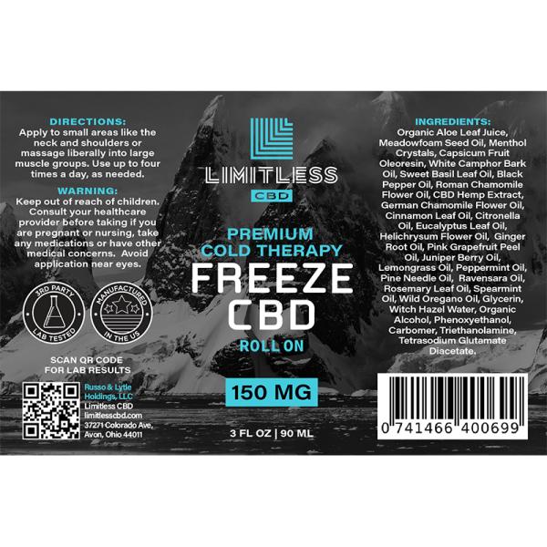 CBD Freeze Roll-on Gel