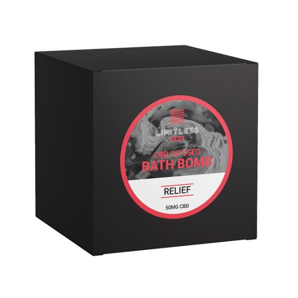 Limitless CBD Bath Bomb Box Relief