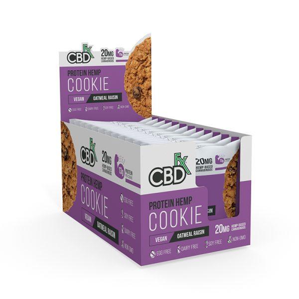 Cbdfx Protein Cookie Oatmeal Raisin Refill
