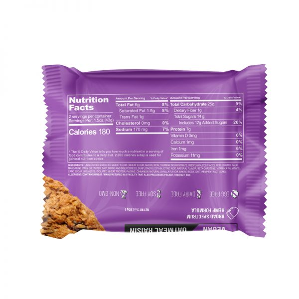 Cbdfx Protein Cookie Oatmeal Raisin