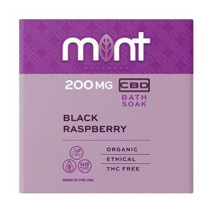 Mint Cbd Black Raspberry Bath Bomb 200MG