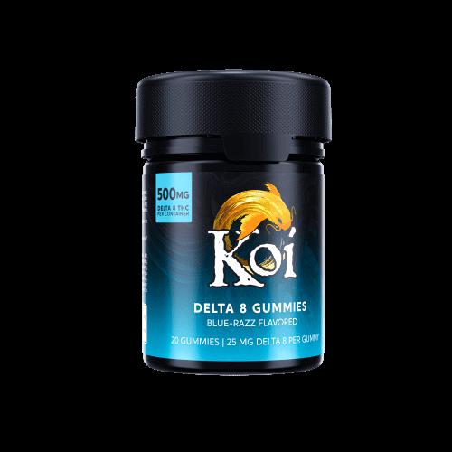 Koi Delta 8 Blue Razz Gummies