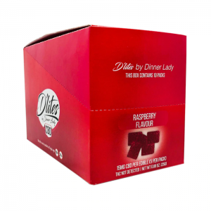 Dinner Lady D'lites CBD Raspberry 75mg Gummies