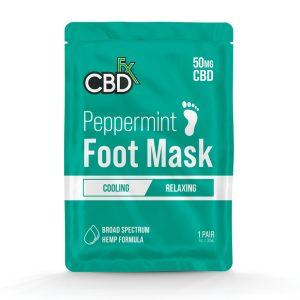 CBDfx Peppermint 50mg CBD Foot Mask