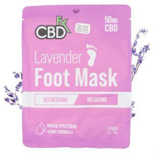 CBDfx Lavender 50mg CBD Foot Mask