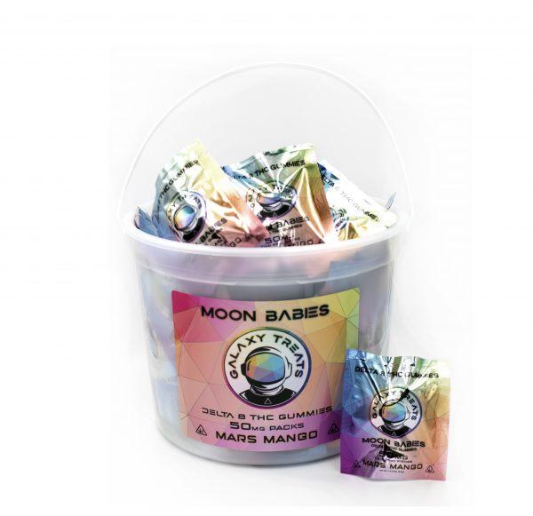 Moon Babies Mango Delta 8 Gummies Bucket