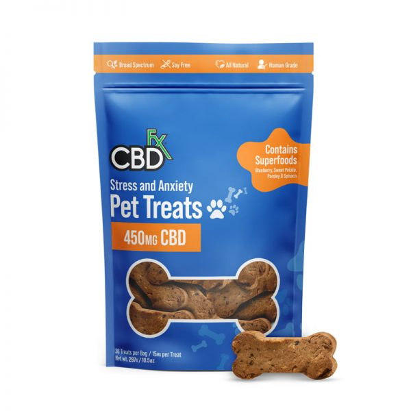 CBDFX Pet Treats Stress Anxiety