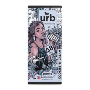 URB Delta 8 THC Dark Chocolate Chocolate Bar