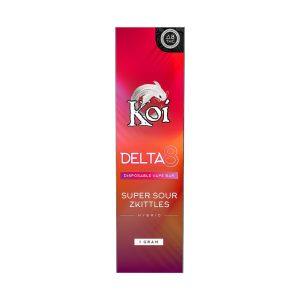 Koi Delta 8 Super Sour Zkittles 1000MG Disposable Vape Bar