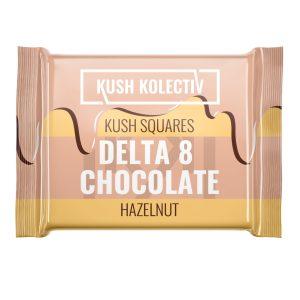 Kush Kolectiv Hazelnut Delta 8 Kush Squares Chocolate 25mg