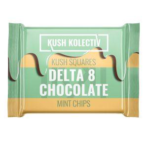 Kush Kolectiv Mint Chips Delta 8 Kush Squares Chocolate 25mg