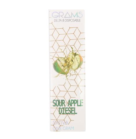 Kalibloom Grams Sour Apple Diesel Delta 8 Disposable Vape Device