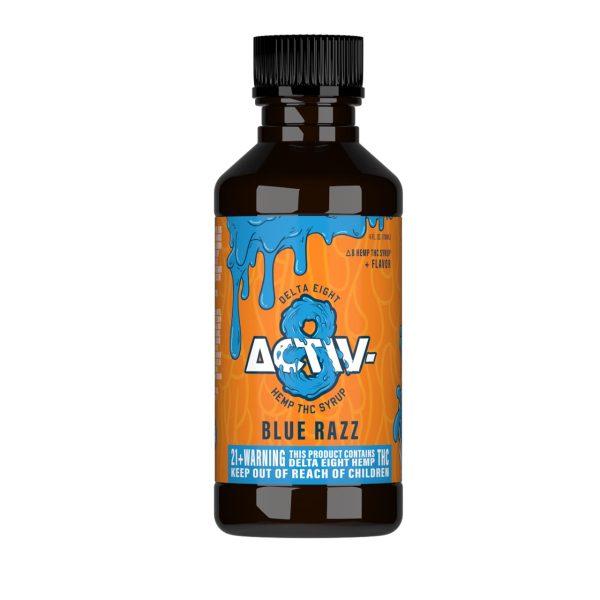 Activ-8 Blue Razz Delta 8 Hemp THC Shot